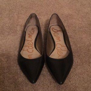 Sam Edelman black pointed toe flats, Size 10